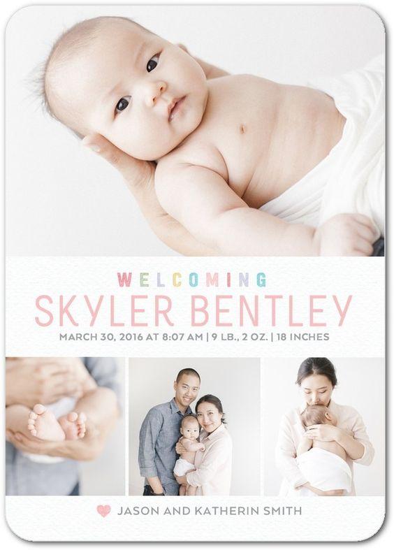 baby birth announcements online