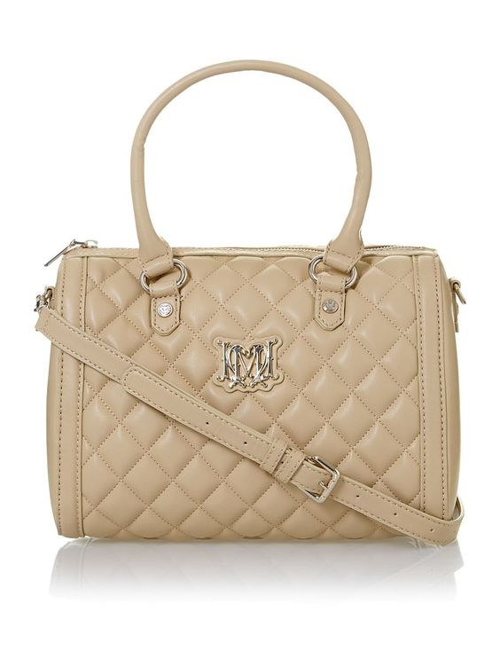 love moschino beige neutral medium quilted bowling bag love moschino shoulder bags. Black Bedroom Furniture Sets. Home Design Ideas