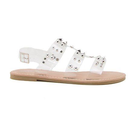 Qupid Womens Kazen 15 Slingback Strap Flat Sandals | Sandals