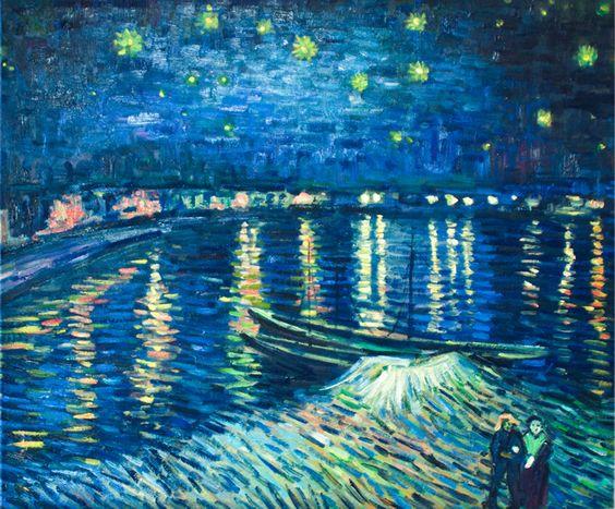 Sternennacht über der Rhone von Vincent van Gogh