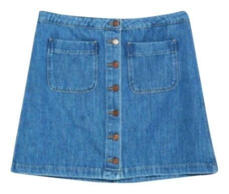 Zara Skirt. Free shipping and guaranteed authenticity on Zara Skirt at Tradesy. Zara demin two pocket skirt. New this season. Butt...