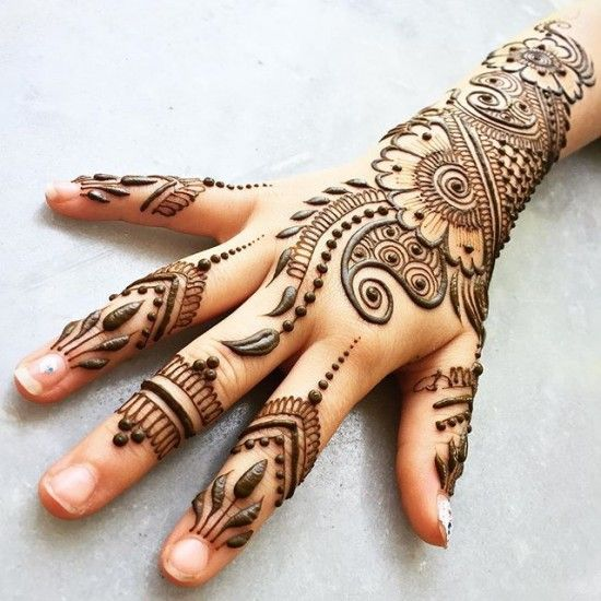Best Mehndi Flower : Best mehendi designs mehndi mehnedi for