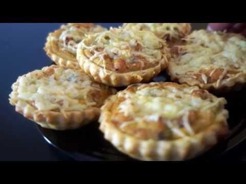 ميني كيش بالعجينة المورقة و كريمة الجبن Mini Kich Youtube Food Food And Drink Desserts