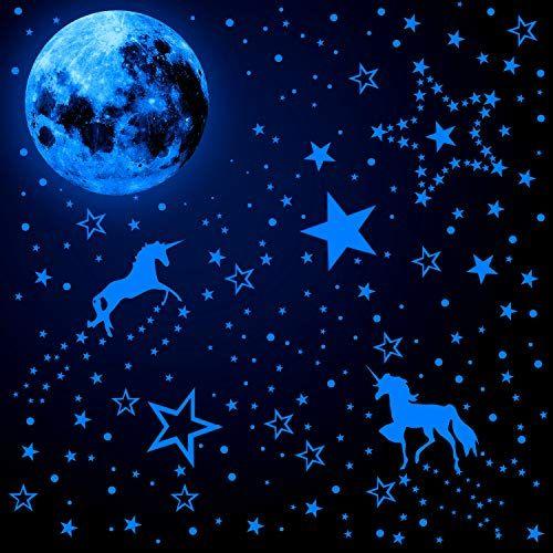 Etoiles Lumineuses Autocollants Muraux Lune Plafond Decorations Chambres Enfants