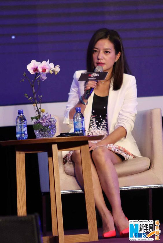Chinese actress Zhao Wei on panel at Alibaba's Global Conference on Women and Entrepreneurship http://www.chinaentertainmentnews.com/2015/05/zhao-wei-at-alibabas-global-conference.html