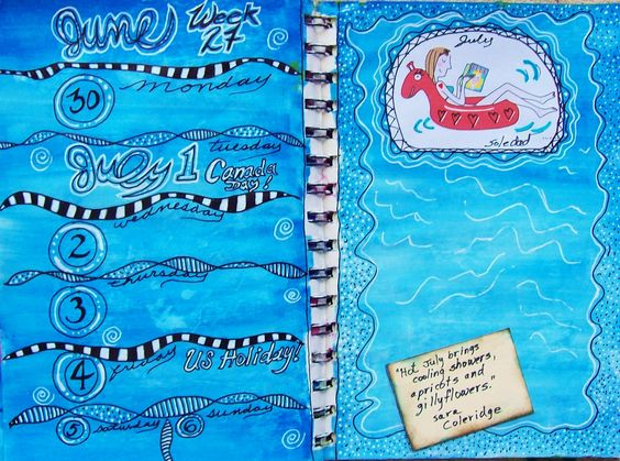 Week 27 Planner pages - SPLASH!! ;)