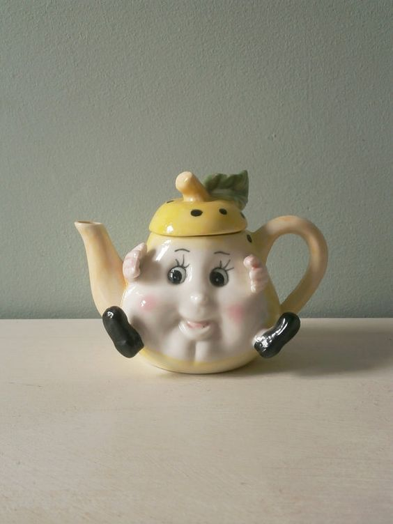 Novelty Tea Kettles ~ Vintage s pear teapot novelty kitsch