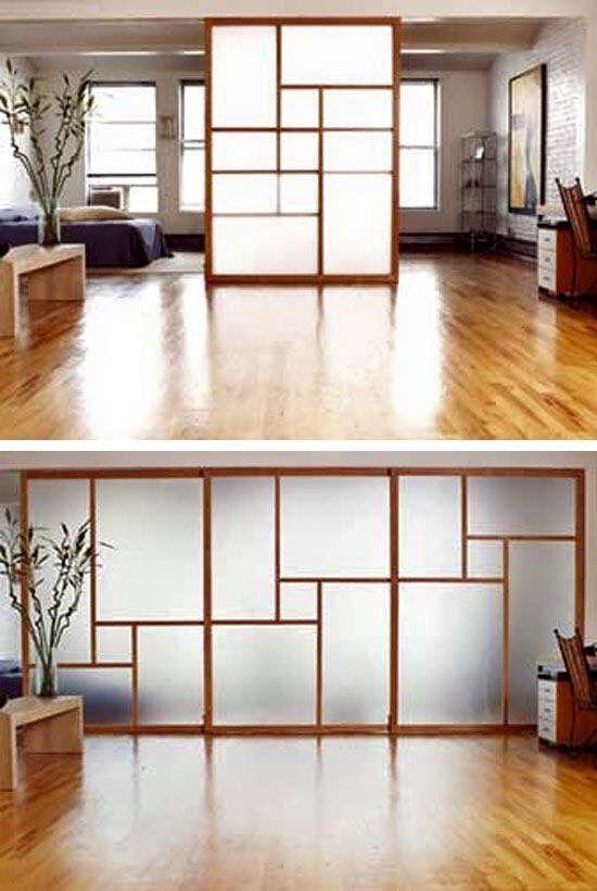 Separador de espacios mamparas pinterest - Mamparas separadoras de ambientes ...