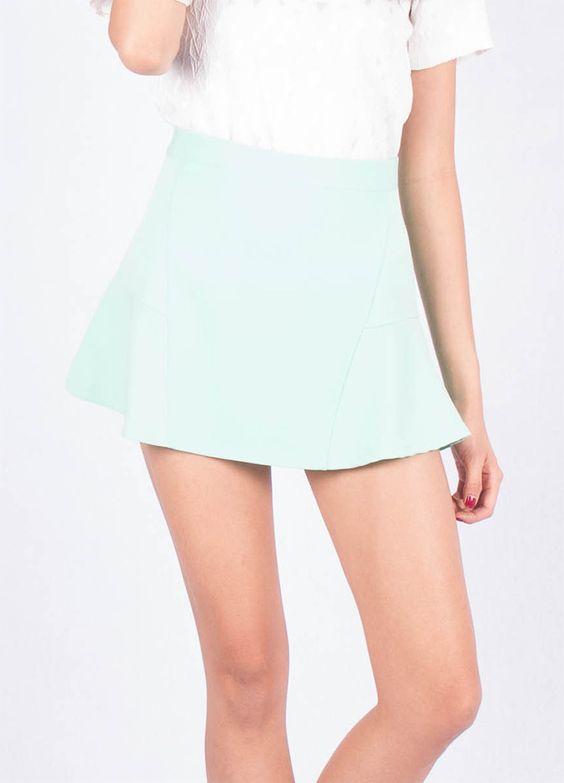 Marie Mint Skirt - Ellysage