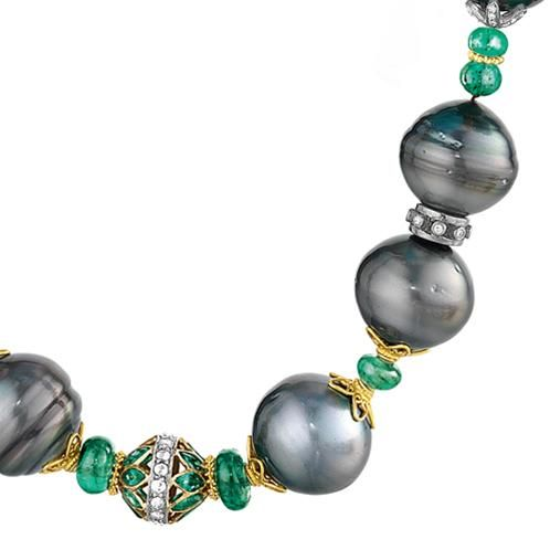 Verdura | Products | NECKLACES | Tahitian Pearl Byzantine Bead Necklace