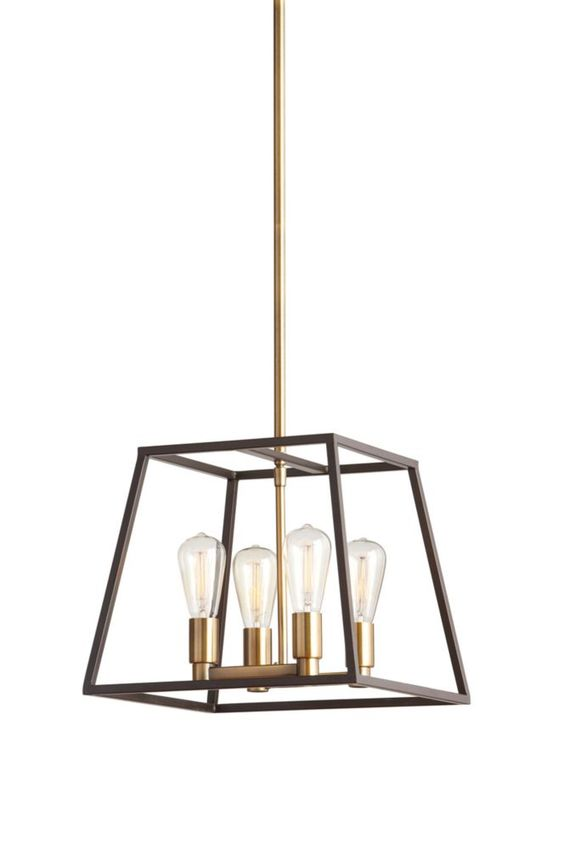 home decorators collection hdc 4light two tone retro pendant the home depot canada