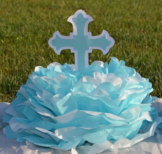 Baptism christening decoration cross centerpieces choose