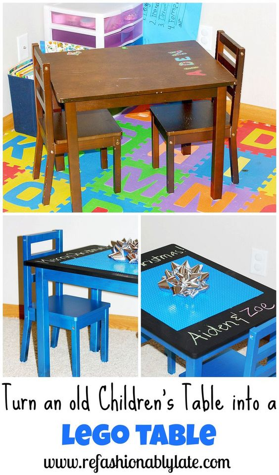 Lego children and lego table on pinterest for Table 85 hours