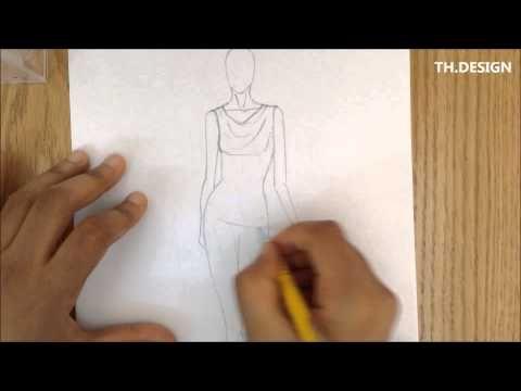 طريقه تلبيس المانيكان Design Fashion Drawing Fashion Design