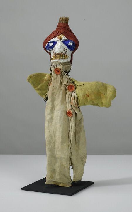 Paul Klee (Swiss-German 1879-1940), Untitled hand puppet (Barber of Bagdad), 38 cm, 1921. Collection Zentrum Paul Klee, Bern.
