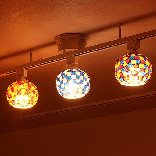 楽天市場 照明 Led 対応 シーリングライト 1灯 ビードロ シーリング ライト 照明器具 天井 おしゃれ ステンドグラス モザイク アンティーク レトロ 和室 玄関 トイレ 直付け アジアン 北欧 ガラス ダクトレール ダイニング 食卓用 インテリア 電気 楽しい