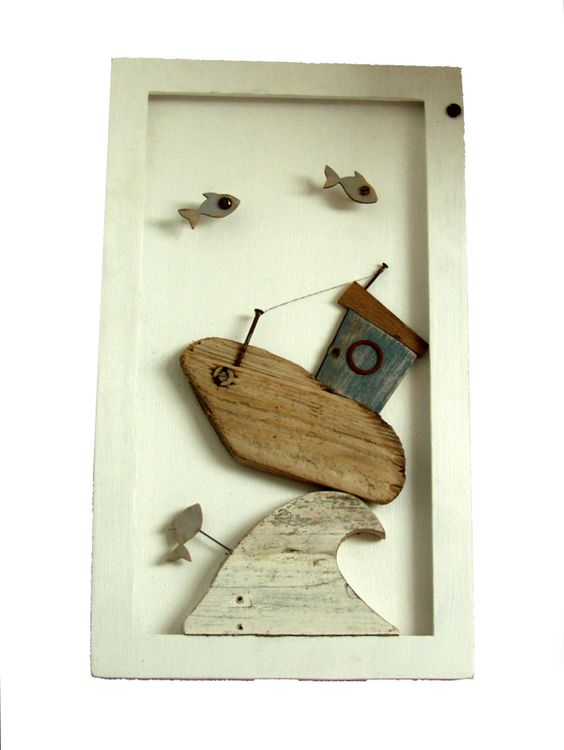 Driftwood boat picture