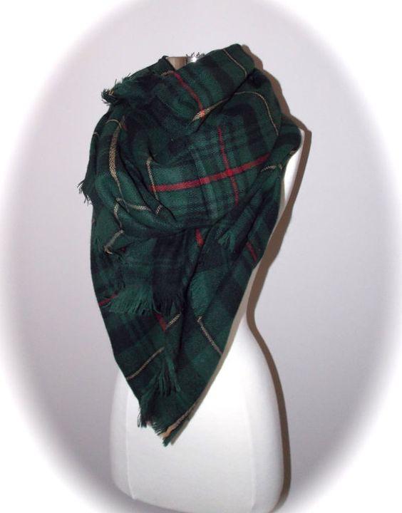 écharpe de foulard/tartan foulard/couverture par OllasCreations