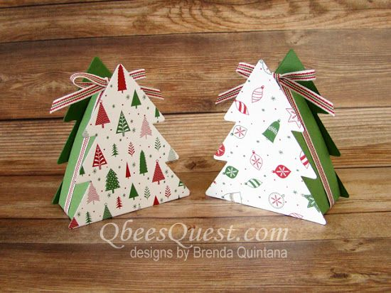 Qbee S Quest Christmas Tree Boxes Tutorial Hershey Kisses Christmas Tree Christmas Crafts Paper Christmas Tree
