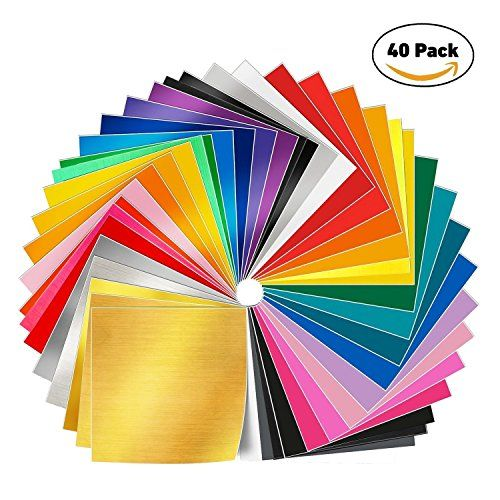 Adhesive Backed Vinyl Sheets 12 X 12 40 Sheets Assorted Vinyl Sheets Adhesive Vinyl