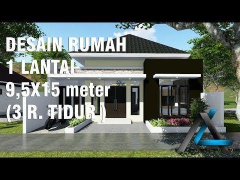 desain rumah 5x15 meter 1 lantai