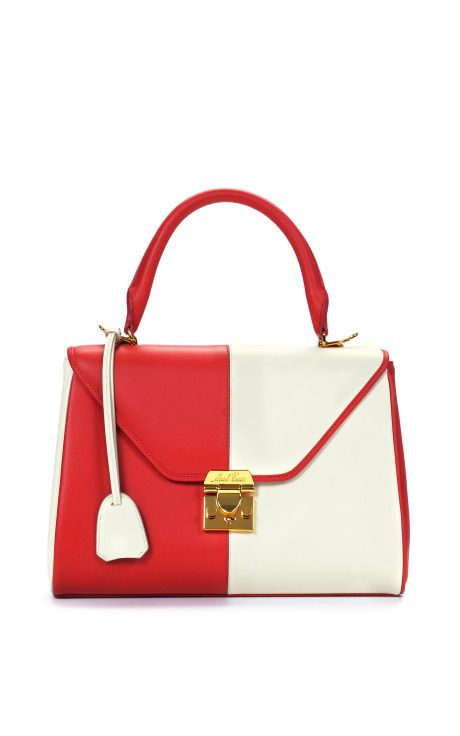 Red And Ivory Small Scottie by Mark Cross for Preorder on Moda Operandi