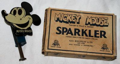 """RARE Boxed Set DISNEY1931 Mickey Mouse """"Sparkler"""" Toy 174 by Nifty Awesome 