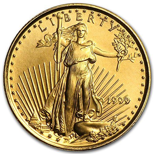 1999 1 10 Oz Gold American Eagle Bu Gold Brilliant Uncirculated Coin Highlights Contains 1 10 Oz Actual Gol Gold Coins Gold Eagle Coins Gold American Eagle