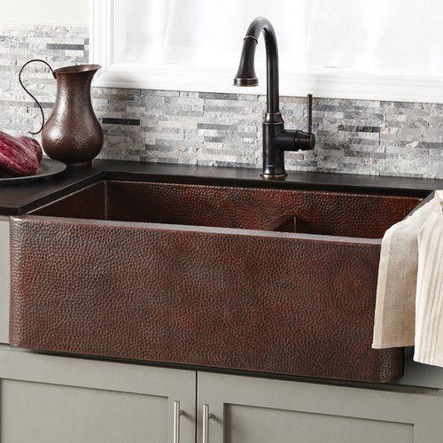 Found It At Wayfair Farmhouse 33 X 22 Duet Copper Kitchen Sink Rustic Kitchen Sinks Farmhouse Sink Kitchen Copper Kitchen Sink
