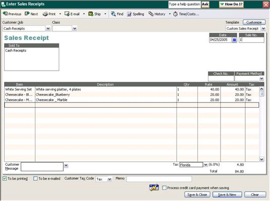 Most Businesses Collect Cash As Payment For The Goods Or Services They Sell These Cash Sales Must Be T Bookkeeping Operations Management Free Receipt Template