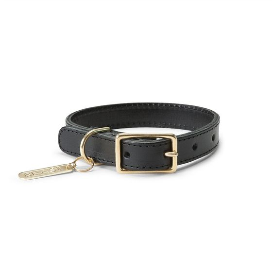 Dog Collars and Leashes / Leather Collar Black by LoveThyBeast
