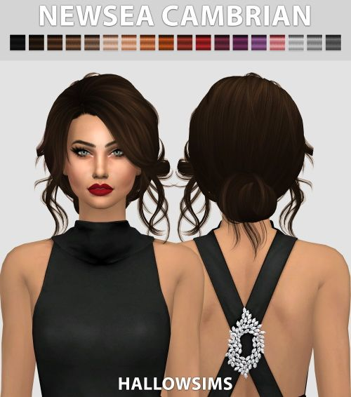 Newsea Cambrian hair conversion at Hallow Sims via Sims 4 Updates: