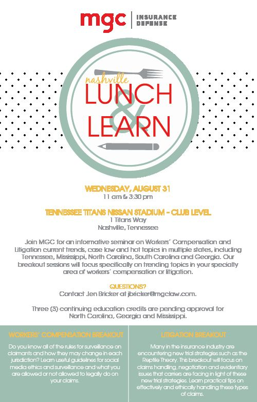Lunch And Learn Invite Template New 2016 Nashville Lunch Learn Mgc Invite Template Printable Invitation Templates Simple Invitation