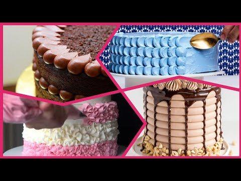 تزيين الكيك تعلمي تزيين كيكة عيد الميلاد بسهولة للمبتدئين افكار جديدة لتزيين التورتة بشكل احترافي Youtube Desserts Cake Food