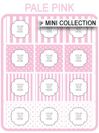 Free Pink Baby Shower Printable Templates Home, Baby shower pink - Free Baby Shower Label Templates