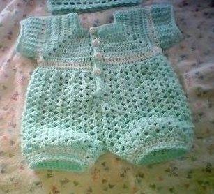 0005 Baby Boy Pattern Newborn to 03 Months Crochet Romper ...