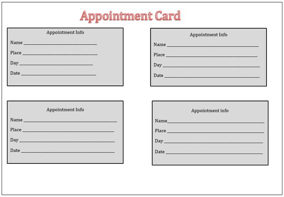 Appointment Card Template Templates Pinterest Template - petty cash voucher format