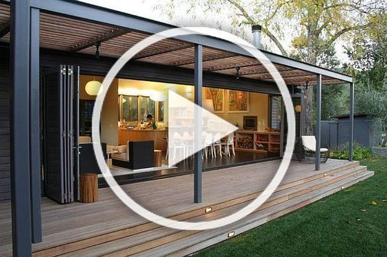 Nice Wide Flat Decking Roof Trelluce Could Be Extension Of Actual Screened In Porch Roof Architecture Design Living Room Diy Modern Interior Design