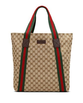 fake celine bags for sale - Original GG Canvas North-South Tote Bag, Tan by Gucci at Neiman ...