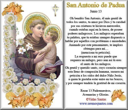Gifs y Fondos PazenlaTormenta: SAN ANTONIO DE PADUA - ORACIONES