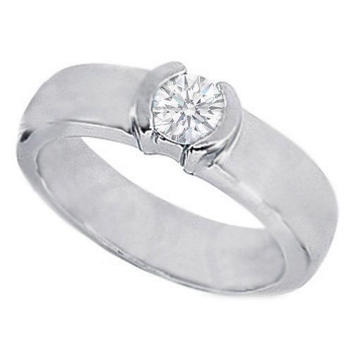 Bezel Set Engagement Rings Half Karat 1