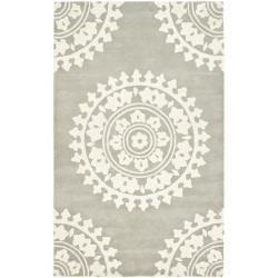Handmade Soho Chrono Grey/ Ivory New Zealand Wool Rug (7'6 x 9'6)