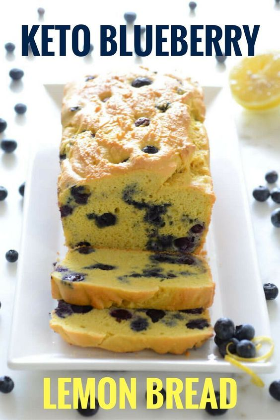 Keto Blueberry Lemon Bread