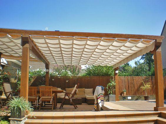 Pergolas pergolas de madera p rgolas pinterest - Pergolas de madera para terrazas ...