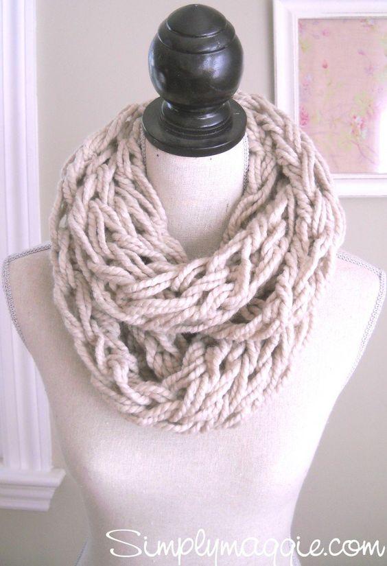 Maak zelf een Infinity sjaal in slechts 30 minuten(bekijk snel hoe)