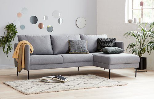 Hoekbank Chaise Lounge.Bank Limhamn Chaise Longue Grijs Links In 2019 Chaise