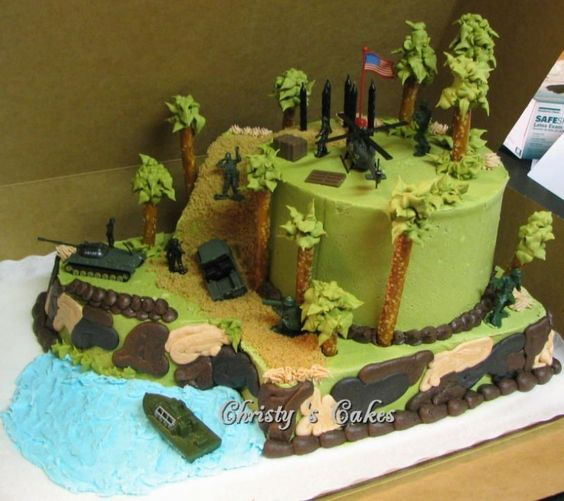 Cake Decorating Ideas Boy Birthday : boy army birthday cake Army cakes for boys Recipes ...