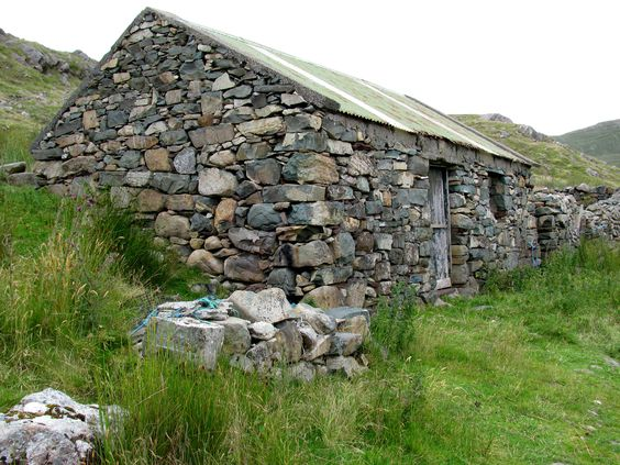 colorful rock house, Connemara