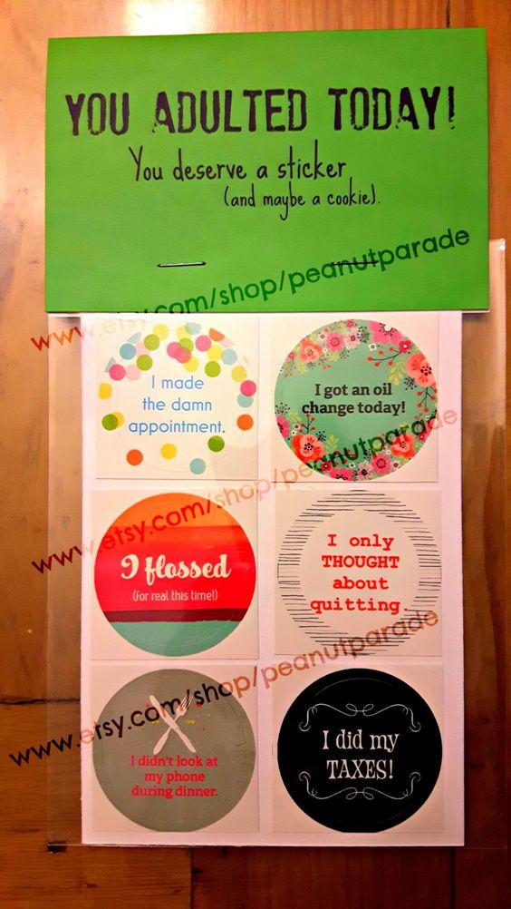 Adulting Reward Stickers (4.00 USD) by peanutparade