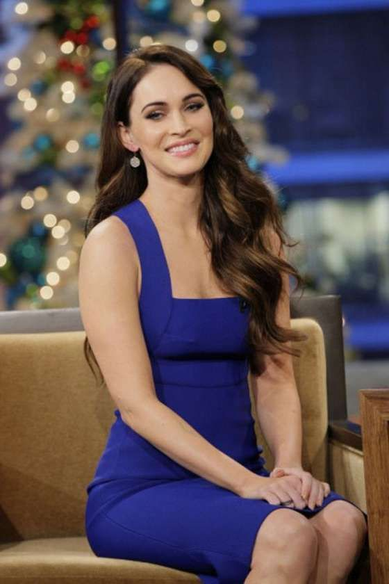 Megan Fox In Tight Blue Dress -07  All Blue Everythang ...